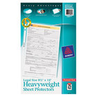 Avery 73897 8 1/2 inch x 14 inch Diamond Clear Legal Size Heavy Weight Sheet Protectors - 25/Pack