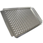 Crown Verity ZCV-PGT-1117 22 inch x 13 inch Perforated Stainless Steel Vegetable / Fish Grilling Tray