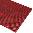 Cactus Mat 2535-R36 Honeycomb 3' x 6' Red Grease-Resistant Anti-Fatigue Rubber Mat - 9/16 inch Thick