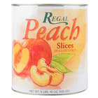 Regal Foods #10 Can Sliced Peaches in Light Syrup - 6/Case