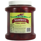 Fox's Strawberry Ice Cream Topping - 6 - 1/2 Gallon Containers / Case