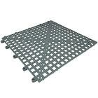 Cactus Mat 2554-ET Dri-Dek 12 inch x 12 inch Gray Vinyl Interlocking Drainage Floor Tile - 9/16 inch Thick