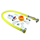T&S HG-4F-60SK Safe-T-Link 60 inch FreeSpin Quick-Disconnect Gas Appliance Connector with SwiveLink Fittings and Installation Kit - 1 1/4 inch NPT