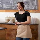 Choice 12 inch x 26 inch Khaki Front of the House Waist Apron