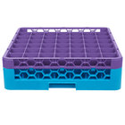 Carlisle RG49-1C414 OptiClean 49 Compartment Lavender Color-Coded Glass Rack with 1 Extender