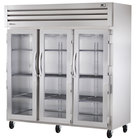 True STA3R-3G Specification Series 77 inch Three Glass Door Reach In Refrigerator - 85 Cu. Ft.