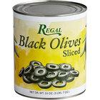 Regal #10 Can Sliced Black Olives - 6/Case
