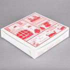 10 inch x 10 inch x 1 1/2 inch Clay Coated Pizza Box - 100/Bundle