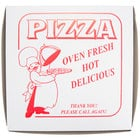 10 inch x 10 inch x 1 1/2 inch Clay Coated Pizza Box - 100 / Bundle