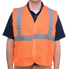 Orange Class 2 High Visibility Surveyor's Safety Vest with Hook & Loop Closure - Medium