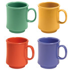 GET TM-1308-MIX Mardi Gras 8 oz. Tritan Stacking Mug, Assorted Colors - 24/Case