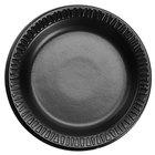Dart 6PBQR Quiet Classic 6 inch Black Laminated Round Foam Plate - 125/Pack