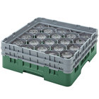 Cambro 20S958119 Camrack Customizable 10 1/8 inch Green 20 Compartment Glass Rack