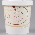 Solo KH16A-J8000 Symphony Print 16 oz. Double-Wall Poly Paper Soup / Hot Food Cup with Vented Paper Lid - 250/Case
