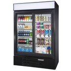 Beverage Air LV45-1-B Black LumaVue 52 inch Refrigerated Glass Door Merchandiser - 47 Cu. Ft.