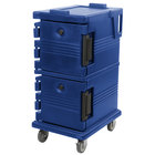 Cambro UPC600186 Ultra Camcarts® Navy Blue Insulated Food Pan Carrier - Holds 8 Pans