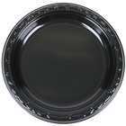 Genpak BLK07 Silhouette 7 inch Black Premium Plastic Plate   - 100/Pack