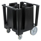 Cambro DCS950110 Black Versa Dish Caddy with Vinyl Cover - 5 Column