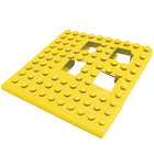 Cactus Mat Dri-Dek 2554-YC Yellow 2 inch x 2 inch Interlocking Vinyl Drain Tile Corner Piece - 9/16 inch Thick