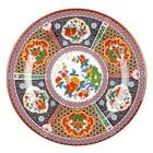 Peacock 12 5/8 inch Round Melamine Plate - 12/Pack