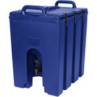 Cambro 1000LCD186 Camtainers® 11.75 Gallon Navy Blue Insulated Beverage Dispenser