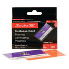Swingline 3300371 UltraClear 2 3/16 inch x 3 11/16 inch Business Card Thermal Laminating Pouch - 7 Mil - 100/Box