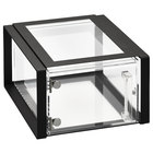 Vollrath SBC12F-06 Cubic 1/2 Size Acrylic Pastry Display Case with Front Door, Black Frame, Reusable Chalkboard Labels, and Chalk