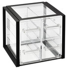 Vollrath SBB2x2F-06 Cubic Four Drawer Acrylic Bread Box with Black Frame, Reusable Chalkboard Labels, and Chalk