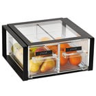 Vollrath SBB23F-06 Cubic 2/3 Size Two Drawer Acrylic Bread Box with Black Frame, Reusable Chalkboard Labels, and Chalk