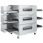 Lincoln Impinger 1600-3/1600-FB3 Natural Gas FastBake Low Profile Triple Conveyor Oven Package - 330,000 BTU