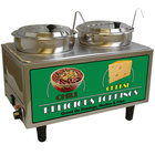 Benchmark USA 51072A Dual 7 Qt. Chili and Cheese Warmer with Ladles and Lids - 120V, 1200W