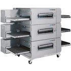 Lincoln Impinger 3240-3 40 inch Single Belt Electric Triple Conveyor Oven Package - 240V, 3 Phase, 72 kW