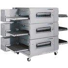 Lincoln Impinger 3240-3 Natural Gas 40 inch Single Belt Triple Conveyor Oven Package - 345,000 BTU