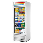 True GDM-23-HST-HC~TSL01 White One Section Glass Door Refrigerated Merchandiser with LED Lighting and Health Safety Timer