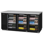 Turbo Air TBB-24-72SG-N Super Deluxe 73 inch Glass Door Narrow Back Bar Refrigerator
