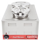 Avantco 12 inch x 20 inch Full Size Electric Countertop Food Warmer / Soup Station with (1) 4 Qt. Inset, (1) 7 Qt. Inset, 2 Ladles, and 2 Lids - 120V, 1200W