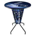 Holland Bar Stool L218B42PennSt36RPennSt-D2 Penn State University 36 inch Round Bar Height LED Pub Table