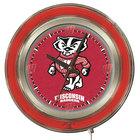 Holland Bar Stool Clk15WI-Bdg University of Wisconsin 15 inch Neon Clock
