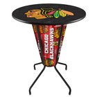 Holland Bar Stool L218B42ChiHwk36RChiHwk-B Chicago Blackhawks 36 inch Round Bar Height LED Pub Table