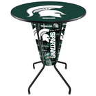 Holland Bar Stool L218B42MichSt36RMichSt Michigan State University 36 inch Round Bar Height LED Pub Table