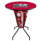 Holland Bar Stool L218B42Alabma36RAL-Ele University of Alabama 36 inch Round Bar Height LED Pub Table