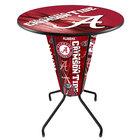 "Holland Bar Stool L218B42Alabma36RAL-A-D2 University of Alabama 36"" Round Bar Height LED Pub Table"