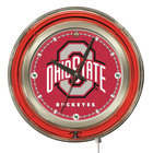 Holland Bar Stool Clk15OhioSt Ohio State University 15 inch Neon Clock