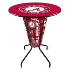 "Holland Bar Stool L218B42Alabma36RAL-A University of Alabama 36"" Round Bar Height LED Pub Table"