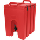Cambro 1000LCD158 Camtainers® 11.75 Gallon Hot Red Insulated Beverage Dispenser