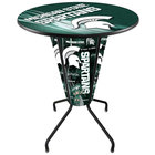 Holland Bar Stool L218B42MichSt36RMichSt-D2 Michigan State University 36 inch Round Bar Height LED Pub Table