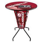 "Holland Bar Stool L218B42Alabma36RAL-Ele-D2 University of Alabama 36"" Round Bar Height LED Pub Table"