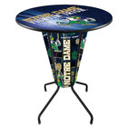 Holland Bar Stool L218B42NotreD36RND-Lep-D2 University of Notre Dame 36 inch Round Bar Height LED Pub Table