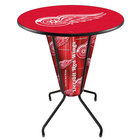 Holland Bar Stool L218B42DetRed36RDetRed Detroit Red Wings 36 inch Round Bar Height LED Pub Table