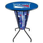 Holland Bar Stool L218B42NYRang36RNYRang New York Rangers 36 inch Round Bar Height LED Pub Table